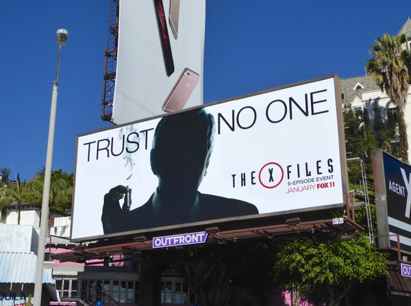The X-Files Cigarette Smoking Man billboard