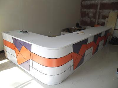 Meja Customer Service Bank + Furniture Semarang