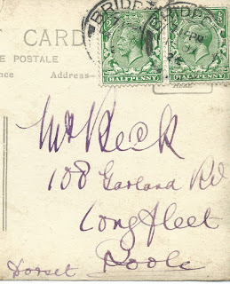 Showing address and 2 stamps
