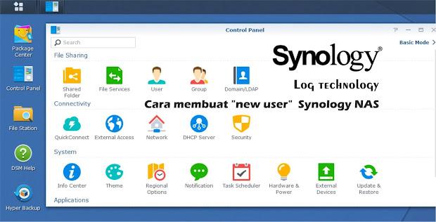 "Cara membuat ""new user"" Synology NAS"