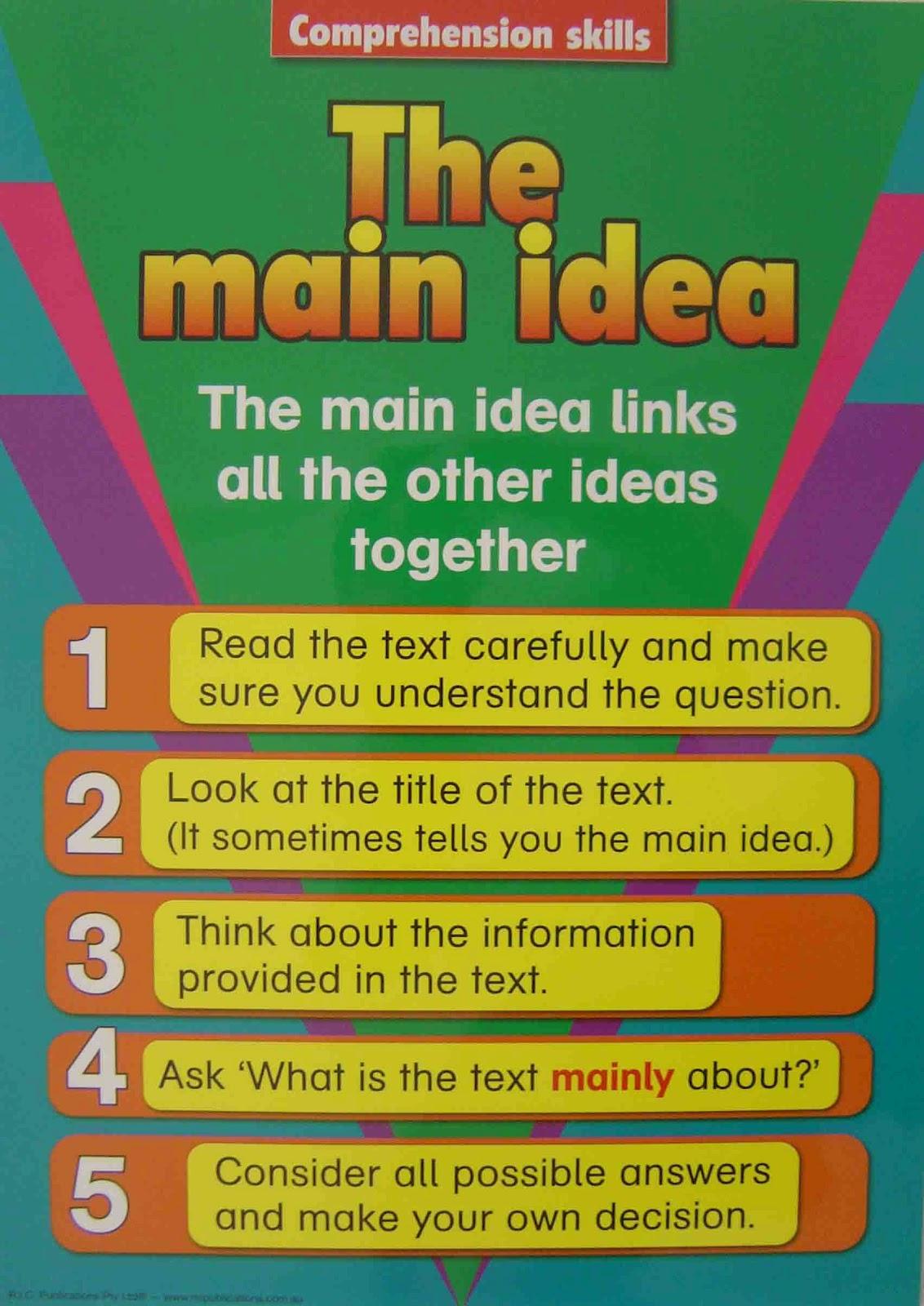 Main Idea Skill