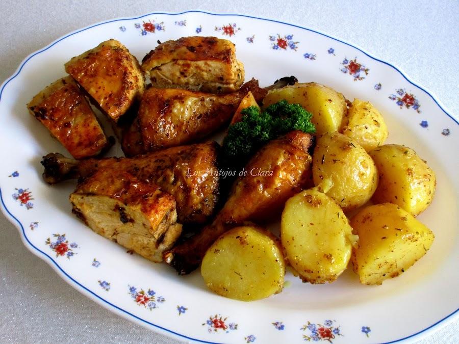 Pollo campero al horno