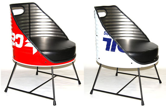 desain kursi dari drum bekas