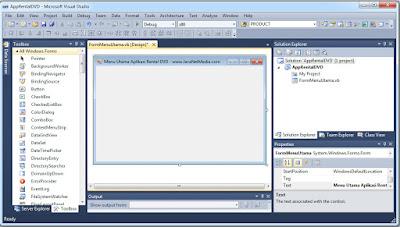 VB .Net - Membuat Form Menu Utama Aplikasi Rental DVD