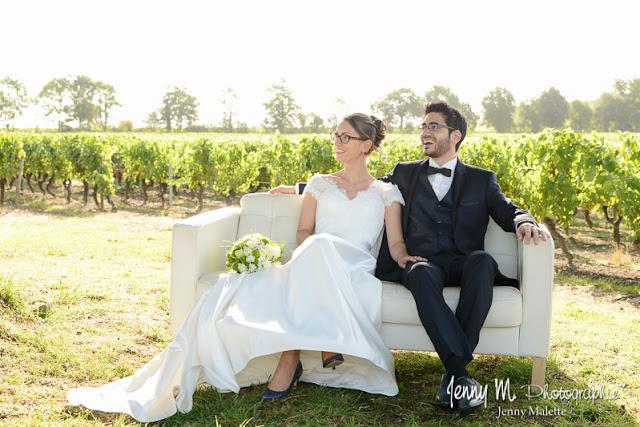 photo volée des mariés durant cérémonie laïque mariage
