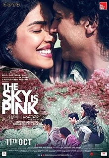The sky is pink 2019 hdrip movie download for free Zaira Wasim, Priyanka Chopra, Farhan Akhtar, Drama, Family, Romance.
