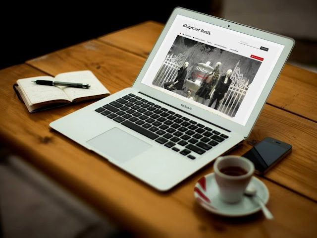 BlogrCart BUTIK v2.0 Blogger Template 2016 with shopping cart