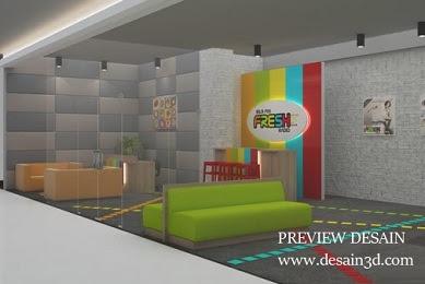 Jasa Desain Ruang siaran radio Interior Lobby Receptionis
