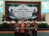 SMAN 2 Ponorogo adakan pisah sambut kepala sekolah dari H.Turidjan, S.Pd., M.Pd.I kepada Drs. H. Hariyadi. M.Pd