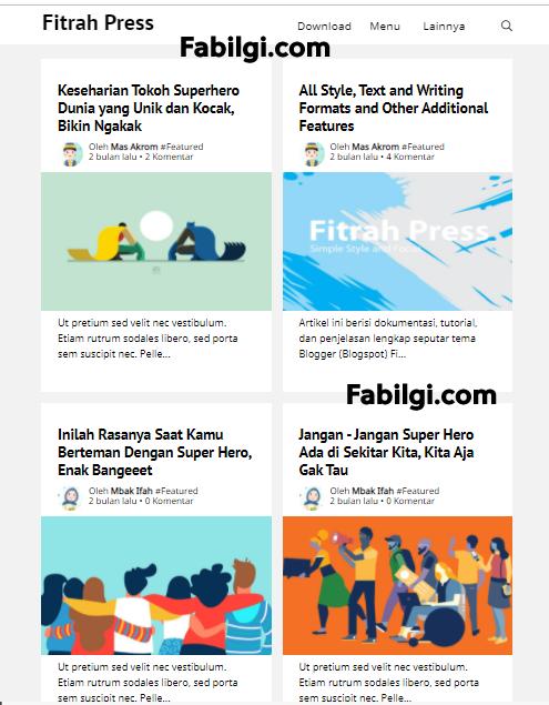 Blogger Fitrah Press Seo ve Reklam Uyumlu Bedava Tema 2021