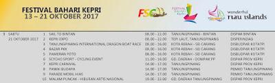 jadwal festival bahari kepri 2017