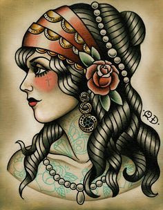 Best Tattoos for women with curly hair