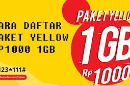 Cara Daftar Paket Yellow Rp.1000 1gb Juli 2018