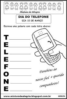 Atividade dia do telefone