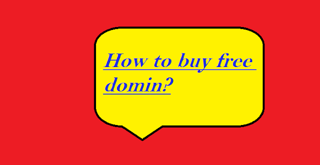 How to buy a free domain name? free me domin kaise kharide   I will tell you in this article how you can buy free domina names, so let's star free domin name
