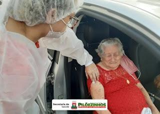 Covid-19: Secretaria de Saúde segue com cronograma de vacinação para idosos de 80 a 89 anos