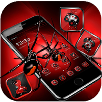 Red Dark Black Spider Launcher Theme Apk for Android