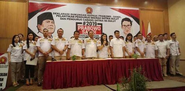 Satria Sulawesi Utara Siap Menangkan Prabowo-Sandi