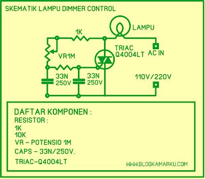 Cara Membuat Dimmer Lampu atau PWM  yang sederhana Mudah di Buat