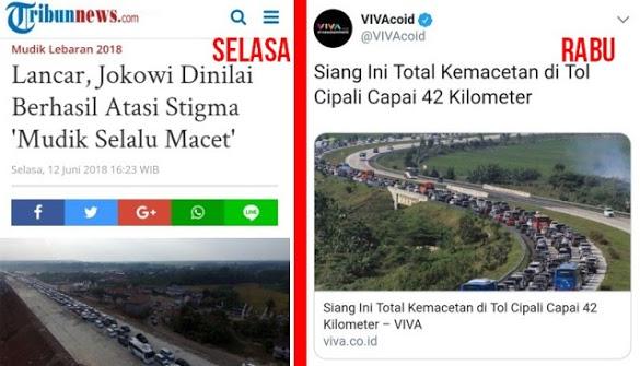 Terlanjur Puji Jokowi Berhasil Atasi Stigma Mudik Selalu Macet, Hari Ini Malah Macet Super Parah