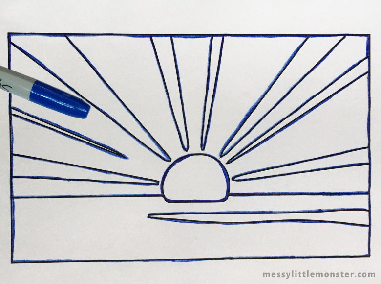Sunrise pop art for kids