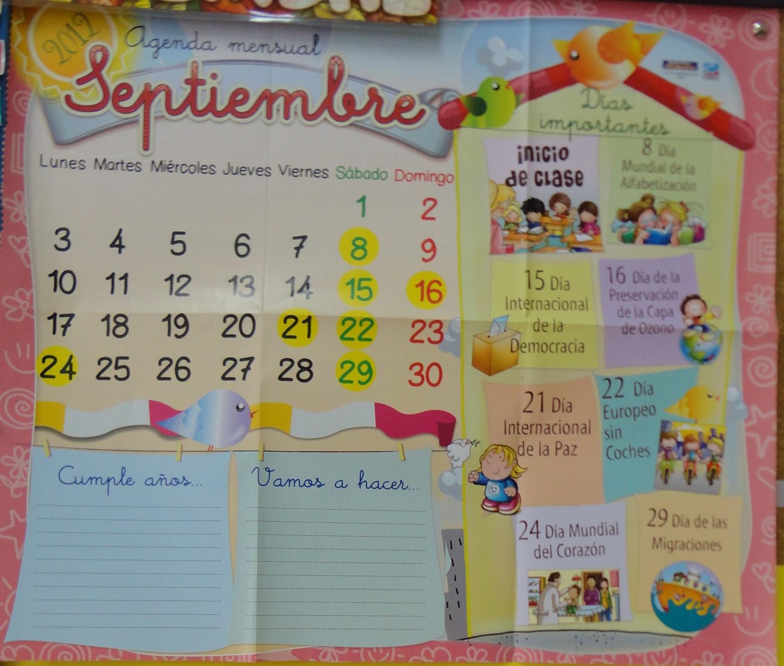 Rocio olivares el aula de pt bienvenida al mes de for Calendario manualidades