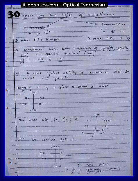 Optical Isomerism Notes jee2