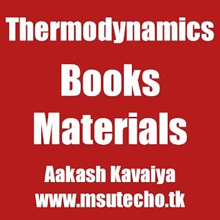 Thermodynamics | msu techo | SEM-2