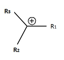 Fig. I.1: General formula of a carbocation