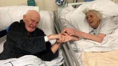 Idosos, casados por 70 anos, têm último encontro no hospital antes de morrerem de Covid-19