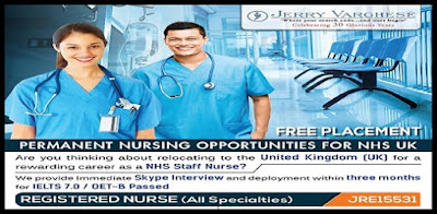 PERMANENT NURSING OPPORTUNITIES FOR NHS UK