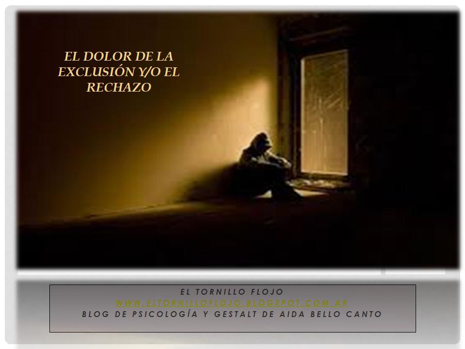 Exclusion, rechazo, emociones, dependencia emocional, vinculos toxicos, Psicologia, Aida Bello Canto