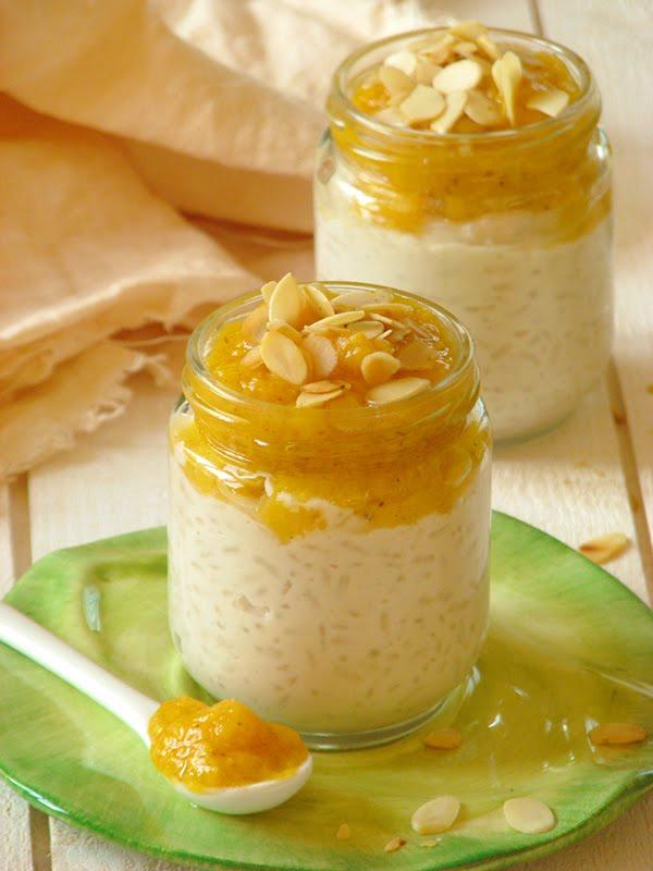 Pudding de riz bio sans lactose facon riz au lait et compote de peches recettes bio et fait - Riz au lait maison ...