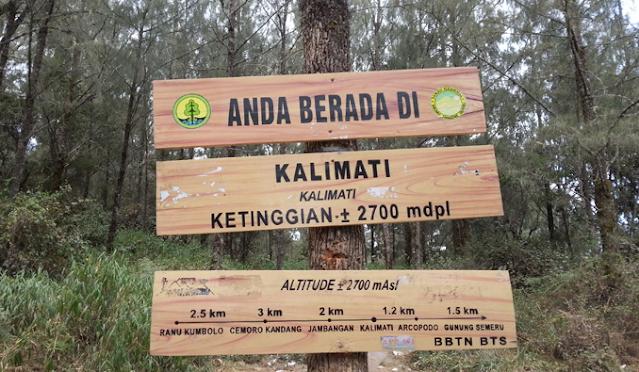 Area Kalimati Gunung Semeru