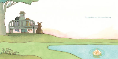 Quiet by Tomie dePaola, final page spread