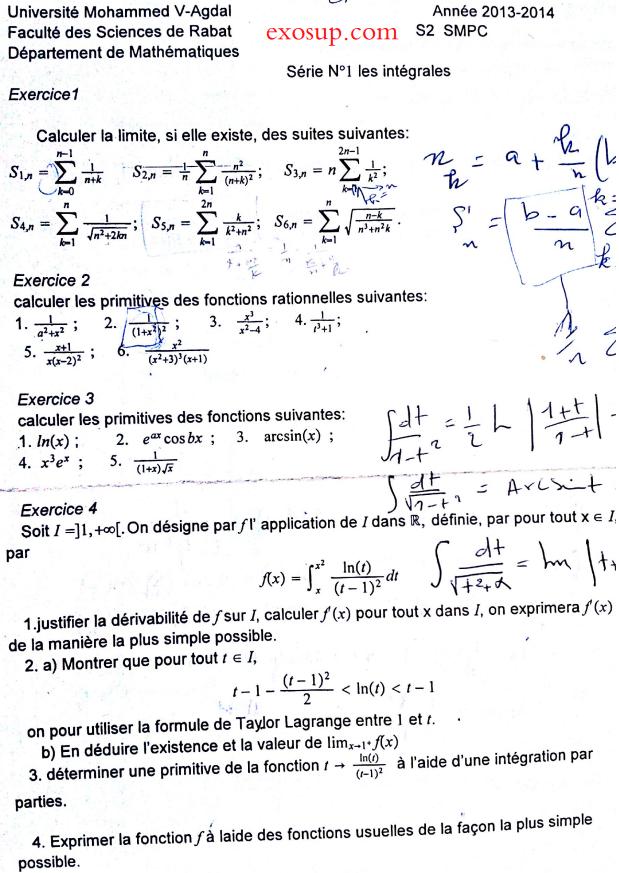 Les Séries Analyse 2 smpc s2