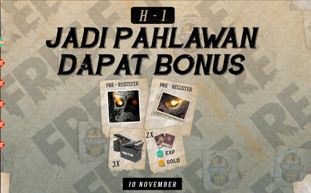 Misi Event Pahlawan H-1 Peak Day Booyah Free Fire 3X Token Ammo Box