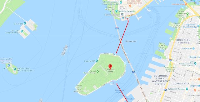 situación de Governors Island en Nueva York