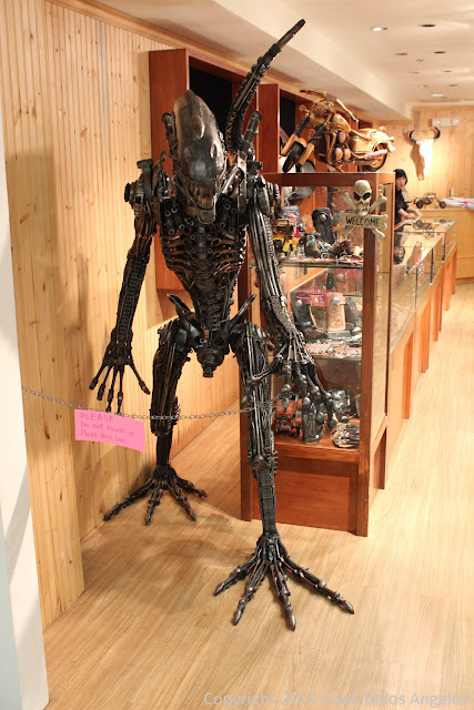 Lifesize replica of the Alien on display in Micronesia Mall
