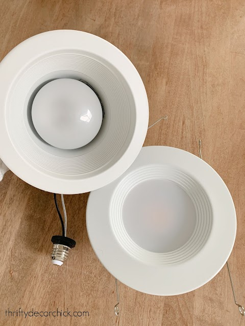 How to easily update old recessed lights to energy saving LED from Thrifty Decor Chick