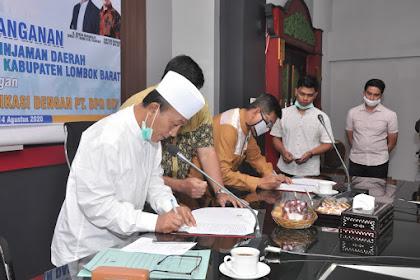 Pemkab Lombok Barat Mendapat Pinjaman Dari Bank NTB Syariah Sindikasi Dengan BPD DIY
