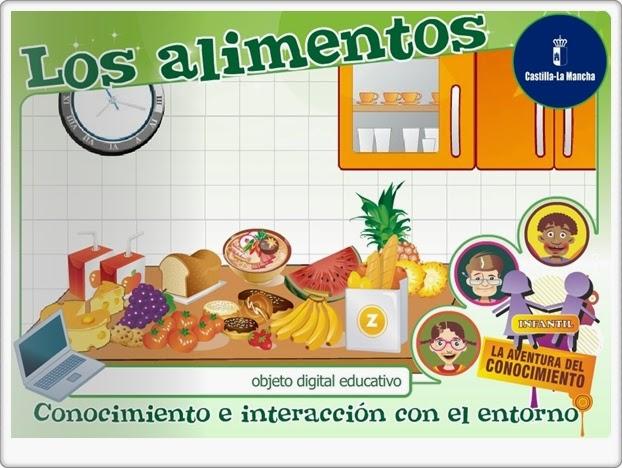 Los alimentos Educación Infantil Cuadernia Junta de Castilla La Mancha