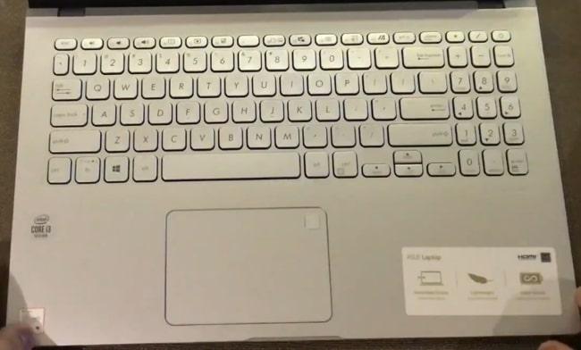 Keyboard of Asus VivoBook X509JA laptop.