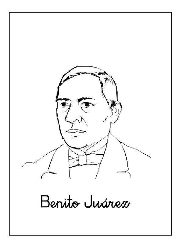 Benito Júarez Dibujos Para Colorear Ciclo Escolar