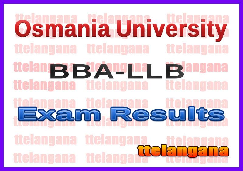 Osmania University OU BBA LLB Exam Results