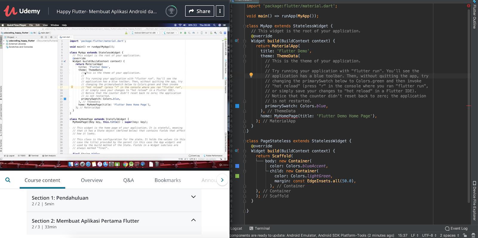 Kelas Belajar Flutter untuk Membuat Aplikasi Android dan ...