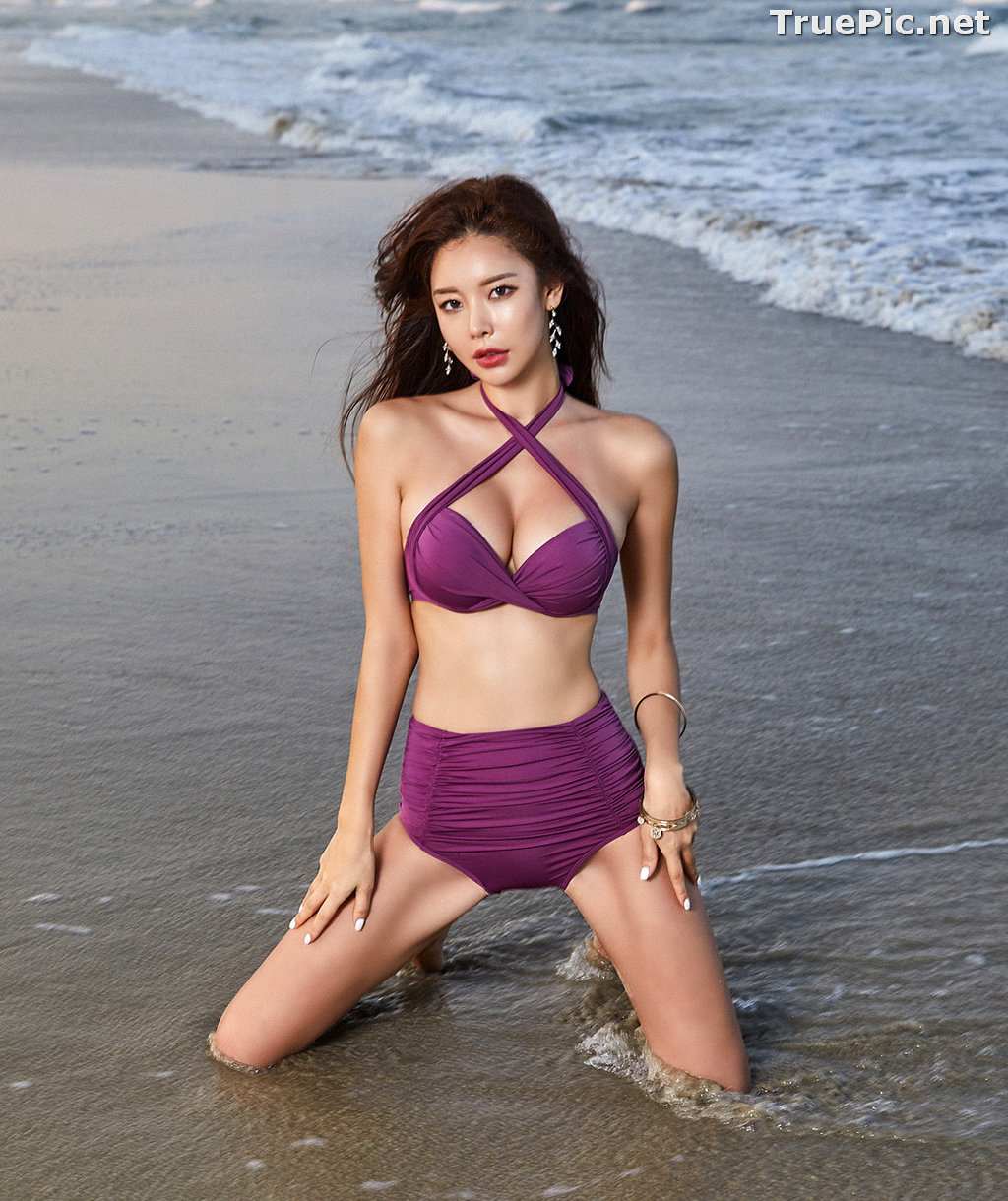 Image Park Da Hyun - Korean Fashion Model - RoseMellow Purple Bikini - TruePic.net - Picture-3