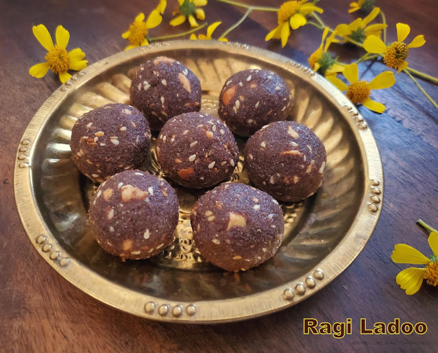 images of Ragi Ladoo / Finger Millets Ladoo / Millets Ladoo / Ragi Ladoo With Jaggery / Ragi Sesame Ladoo  - Healthy Easy Ladoo Recipes