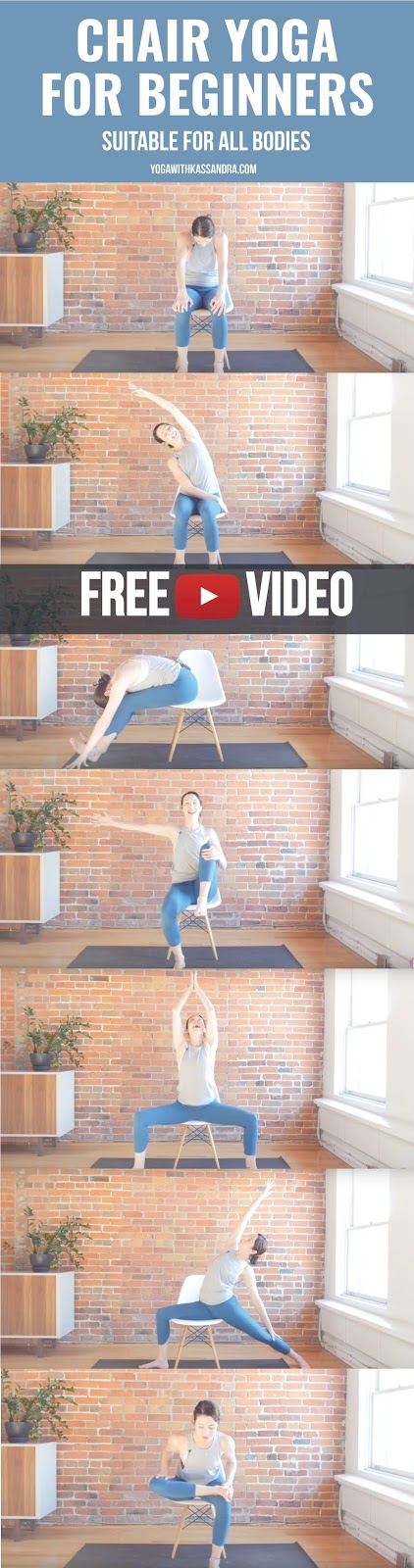Whether you have a limited range of motion, are recovering from an injury, or want to mix up your practice - Chair yoga is a great option for everybody!