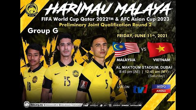 Live Streaming Malaysia vs Vietnam 11.6.2021